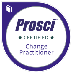 Prosci certification badge